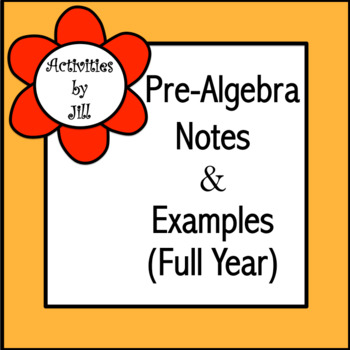 Pre-Algebra Notes & Examples (Full Year)