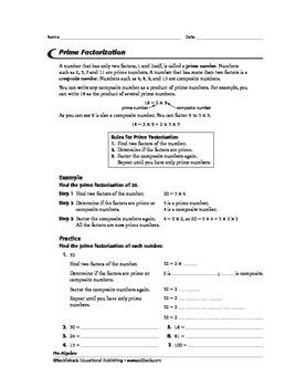 Pre-Algebra: Number Theory 1
