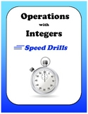 Pre-Algebra: Operations with Integers Speed Drills (Adding, Subtracting,...)