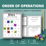 Pre-Algebra: Order of Operations Math Bingo Review Game