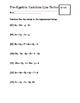 Pre-Algebra Practice Worksheet: Combine Like Terms
