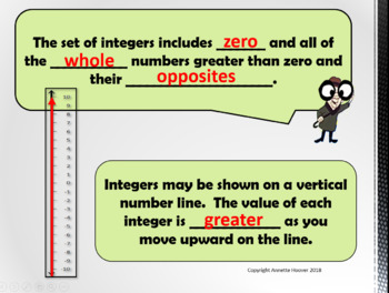 Pre-Algebra Properties of Integers and Absolute Value PP and INB