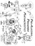 Pre-Algebra Proverbs WITH Explanations,Digital Mini-Textbook,Mathacrostics Puzzl