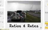 "Pre-Algebra: (RP.1) ""Ratios & Rates"" Prezi/iPad Lesson"
