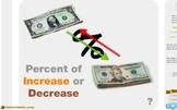 """Pre-Algebra: (RP.10) """"Percent of Increase and Decrease"""" Prezi/iPad Lesson"""