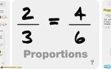 """Pre-Algebra: (RP.3) """"Proportions"""" Prezi/iPad Lesson"""