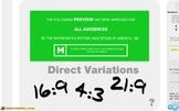 "Pre-Algebra: (RP.7) ""Direct Variation"" Prezi/iPad Lesson"