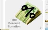 "Pre-Algebra: (RP.9) ""The Percent Equation"" Prezi/iPad Lesson"