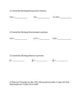 Pre-Algebra: Rates, Ratios, Percent Equivalents