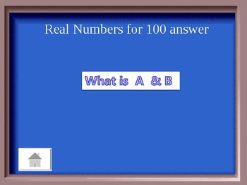 Pre-Algebra Rational and Irrational Jeopardy