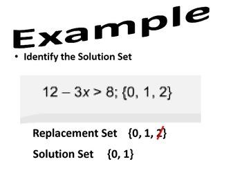 Pre Algebra-Replacement Sets