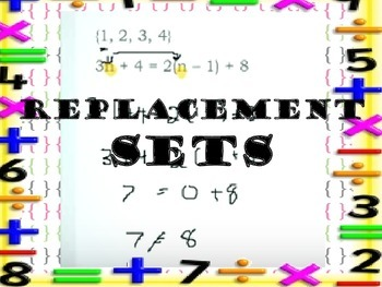 Pre Algebra-Replacement Sets