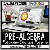 Pre-Algebra Review: Escape Room Activity: DIGITAL VERSION (for Google Slides™)