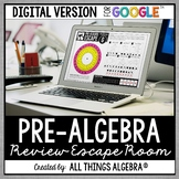 Pre-Algebra Review: Escape Room Activity: DIGITAL VERSION