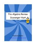 Pre-Algebra Review Scavenger Hunt