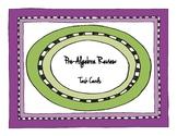 Pre-Algebra Review Task Cards
