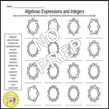 Pre-Algebra Rounders Puzzles