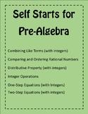 Pre-Algebra Self Starts bundle