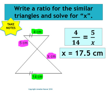 Pre-Algebra Similar Figures PowerPoint and Interactive Notebook Page