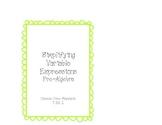 Pre-Algebra Simplifying Algebraic Expressions Task Cards
