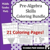 Pre-Algebra Skills Coloring Bundle