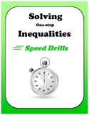 Pre-Algebra: Solving One-step Inequalities Speed Drills
