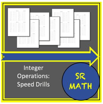 Pre Algebra Speed Drills Integer Operations By Sr Math Tpt