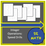 Pre-Algebra Speed Drills - Integer Operations