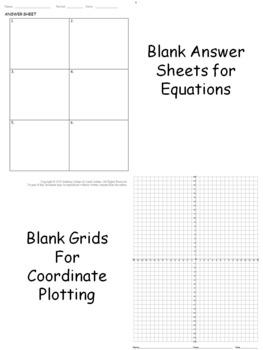 Pre Algebra Spider Web (Equations and Coordinates)