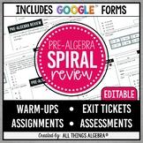 Pre-Algebra Spiral Review Assignments | Assessments | Goog