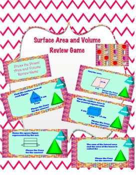 Pre-Algebra Surface Area and Volume Review Game