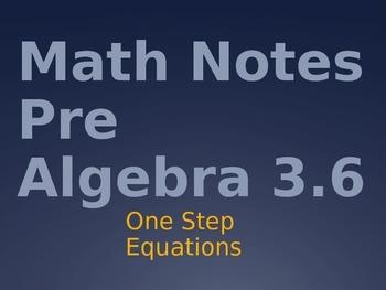 Pre Algebra T-Method Powerpoint Intro and Practice