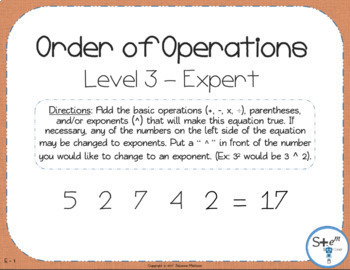 Pre-Algebra: Order of Operations with Boom Learning Digital Card Deck