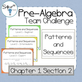 Pre-Algebra: Patterns and Sequences with Boom Learning Digital Card Deck