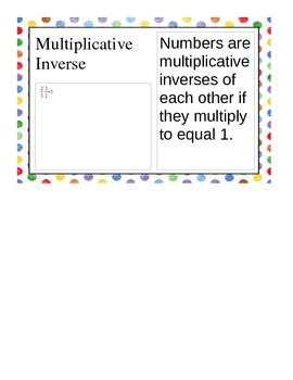 Pre-Algebra Unit 1 Vocab