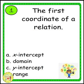 Pre-Algebra Vocabulary Activities