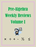 Pre-Algebra Weekly Reviews