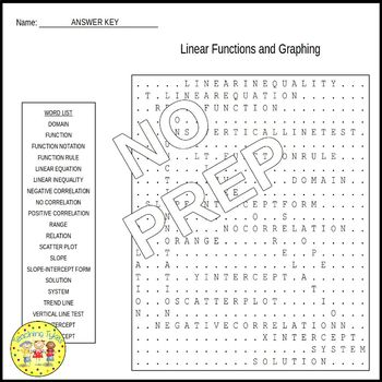 Pre-Algebra Word Search Puzzles