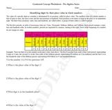Pre-Algebra Worksheet 1 - Whole Number Place Value