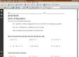 Pre-Algebra Worksheets for Chapter 1