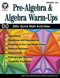 Pre-Algebra and Algebra Warm-Ups Grades 5-8 SALE 20% OFF 404241