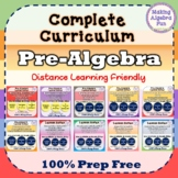 Pre-Algebra curriculum BUNDLE Notes HW Study Guides Quizze