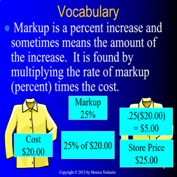 *Common Core 7th Markups and Markdowns (Percents)