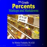 7th Grade Markups and Markdowns (Percents) Powerpoint Lesson