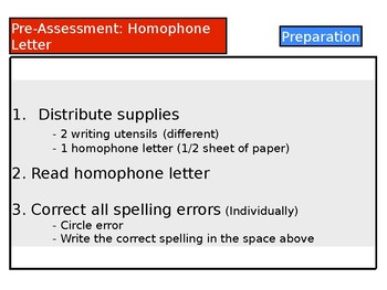 Pre-Assessment: Homophones