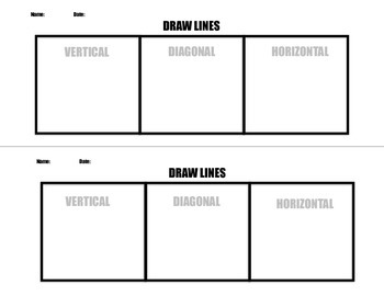 Pre-Assessment for Horizontal/Vertical/Diagonal Lines
