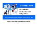 Pre-Cal Math 11, Multiple Choice Practice Final Exam