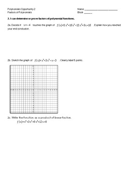 Pre-Calc/ College Algebra complete set of quizzes/ tests and retakes