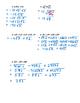 Pre-Calculus 11: Radicals Quiz 1 with FULL SOLUTIONS