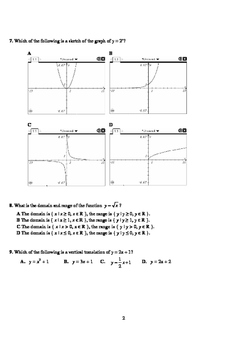 Pre-Calculus 12 Comprehensive Final Exam (with FULL SOLUTIONS)
